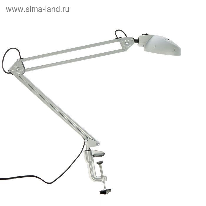 """Светильник настольный энергосберегающий """"Вега"""" серебро, LED"""
