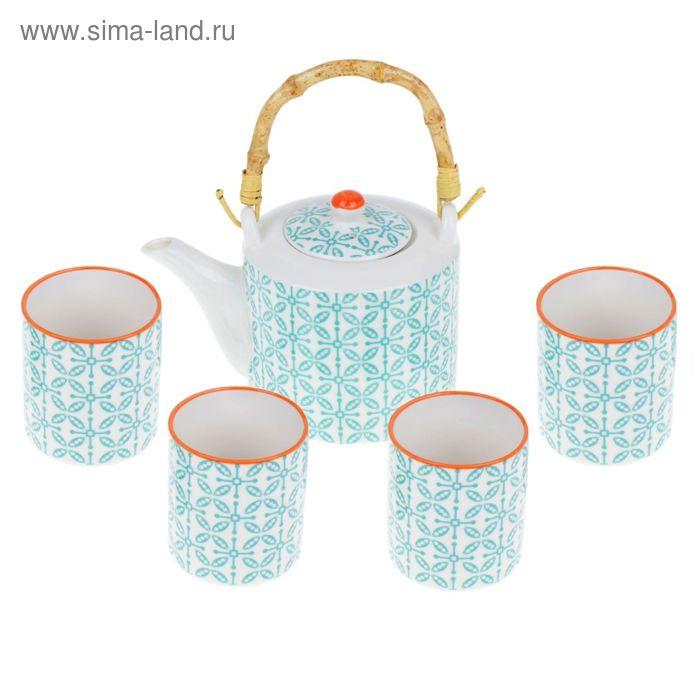 """Набор для чайной церемонии на 4 персоны """"Восточная сказка"""", 6 предметов: чайник 600 мл, 4 чашки 140 мл, сито"""