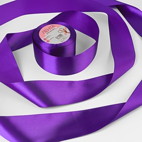 Satin ribbon, 50mm, 23±1m, No. 46, color purple