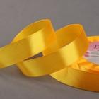 Лента атласная, 20мм, 23±1м, №146, цвет жёлтый