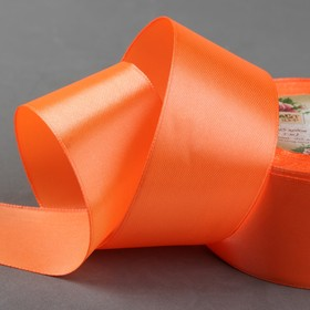 Satin ribbon, 40mm, 23±1m, No. 83, color: orange
