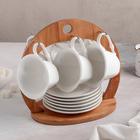 """Набор чайный """"Эстет"""", 12 предметов на подставке: 6 кружек 150 мл, 6 блюдец"""