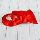Лента атласная, 20мм, 23±1м, №152, цвет красный