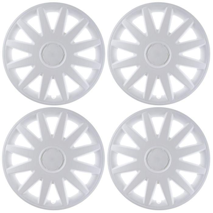"""Колпаки колесные R16 """"Элегант"""", белые, набор 4 шт."""