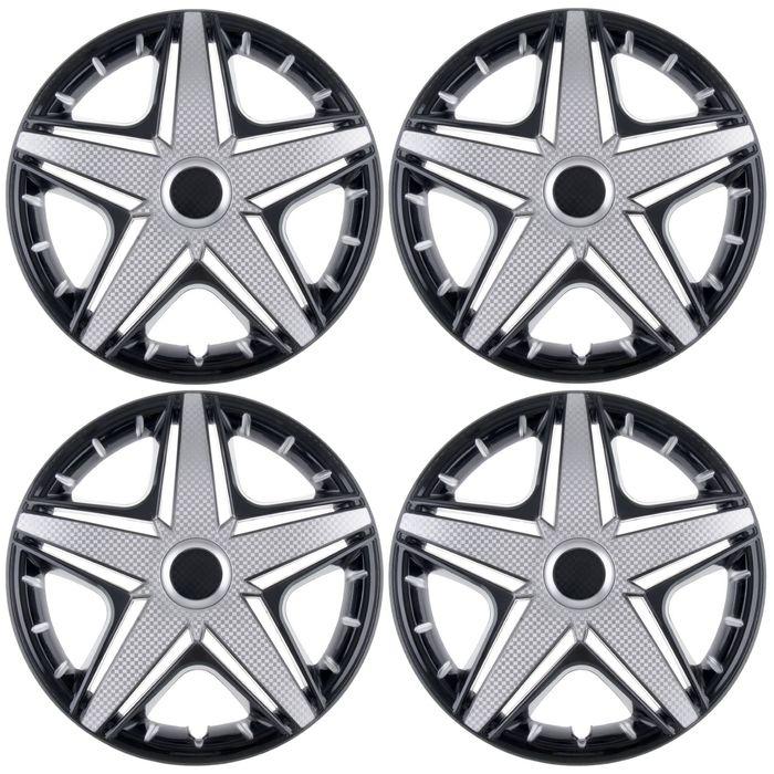 Колпаки колесные R16 NHL Super Black, набор 4 шт.