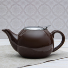"""Чайник заварочный 600 мл """"Солнце"""", с ситом, цвет коричневый"""