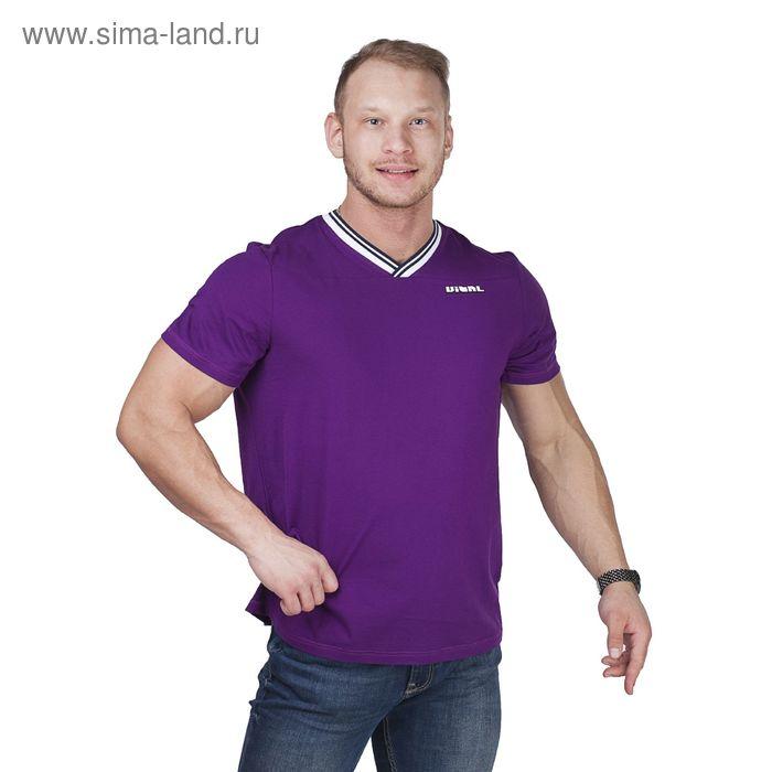 Футболка мужская Р808176 фиолетовый, рост 182-188 см, р-р 46