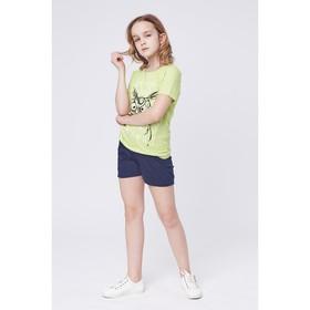 Футболка для девочки, рост 134-140 см (36), цвет желтый МИКС Р107818_Д