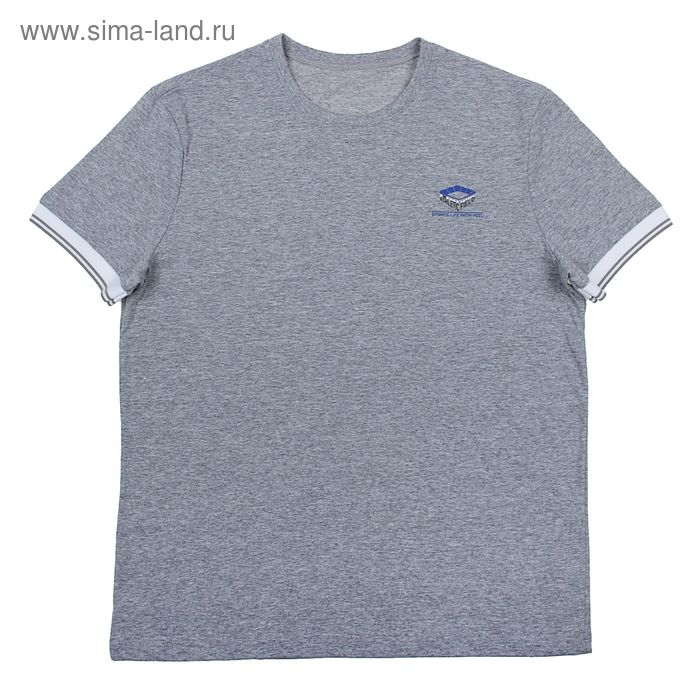 Футболка мужская Р108177 серый, рост 182-188  см, р-р 44