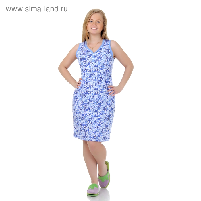 Сорочка женская ночная Р307357 голубой, рост 170-176 см, р-р 50