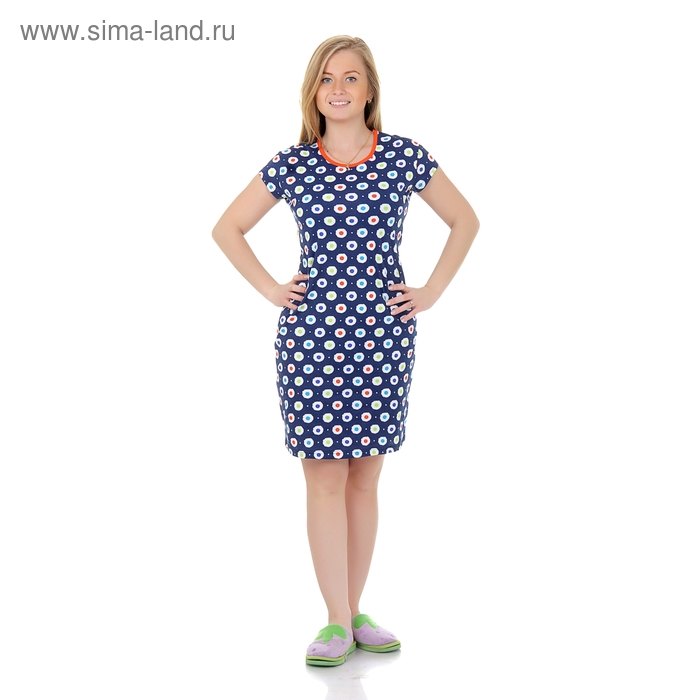 Туника женская Р808121 синий, рост 158-164 см, р-р 48