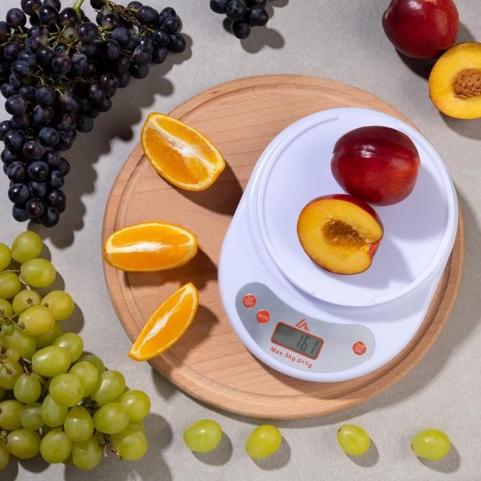 Весы LuazON LVK-504, электронные, кухонные, до 5 кг, МИКС