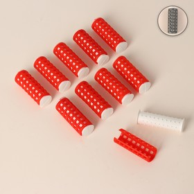 Thermal hair rollers with a lock, d = 1.5 cm, 10 pcs, color MIX.