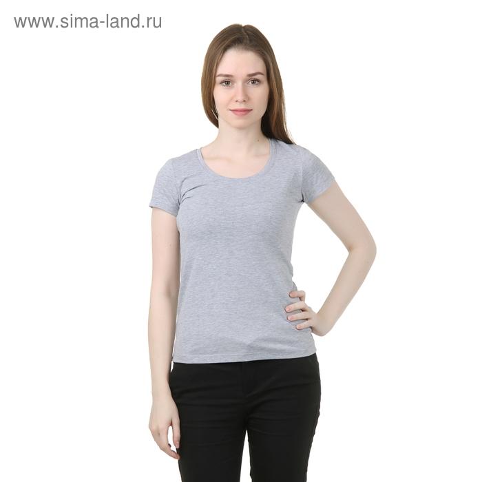 Футболка женская, цвет серый меланж, размер 54 (XXXL) (арт. Б125)