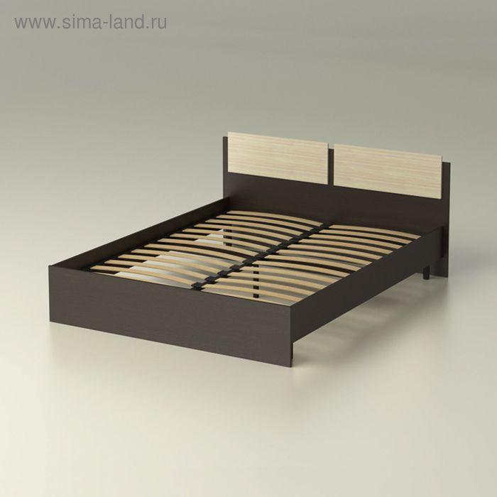 """Кровать 160 с орт.основанием """"Танго"""" с накл.(1704х812х2032) - венге/ дуб млечный"""
