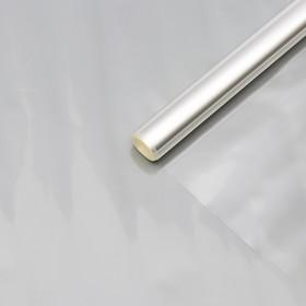 Плёнка для цветов прозрачная 0,9 х 6,2 м, 200 г, 40 мкм