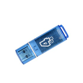 USB2.0 USB stick Smartbuy Glossy, 4 GB, thd up to 25 Mb / s, zap up to 15 Mb / s, blue.
