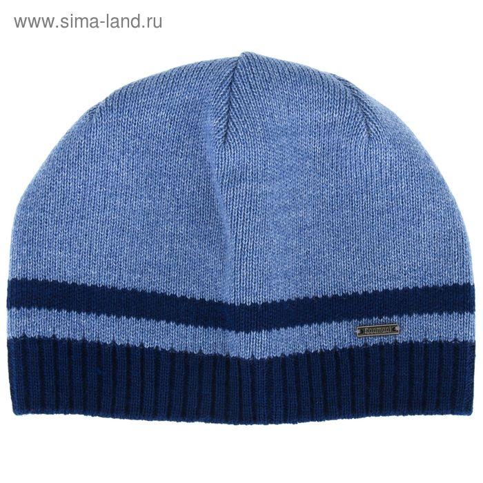 """Шапка мужская """"НИЛ"""" демисезонная, размер 56-58, цвет синий, джинс 590020"""