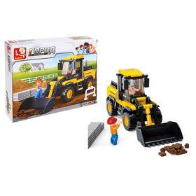Конструктор «Строительный трактор», 212 деталей