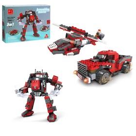 Конструктор Капитан «Робот-трансформер», 3 варианта сборки, 286 деталей