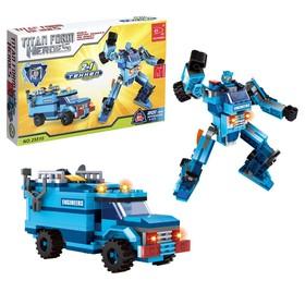 Конструктор Капитан «Робот-трансформер», 2 варианта сборки, 201 деталь