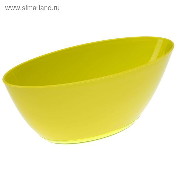 """Кашпо с поддоном 3 л """"Лодочка"""", цвет фисташковый"""