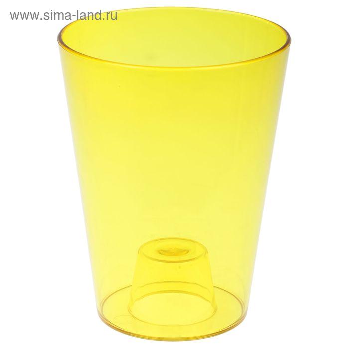 """Кашпо 1,2 л """"ЛаВанда"""", цвет желтый"""