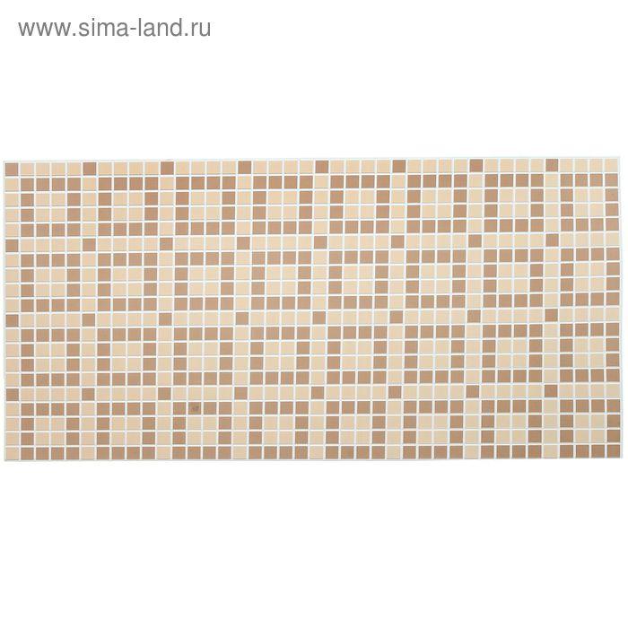 Панель ПВХ Мозаика шоколад коричневый 955*480