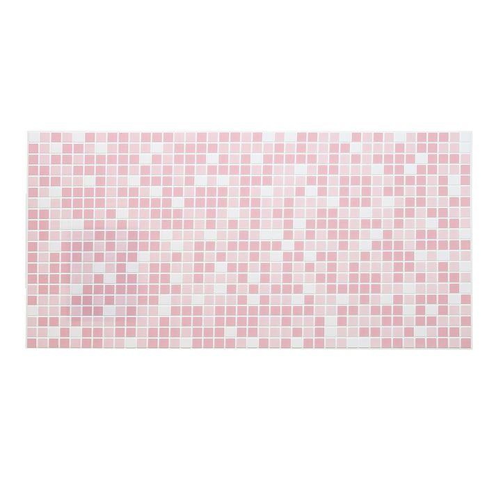 Панель ПВХ Мозаика розовая 955*480
