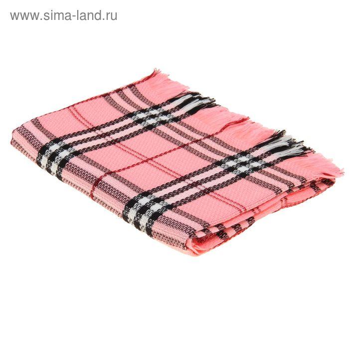 """Плед """"Колосок"""", размер 150х200см, модакрил 100%, край обсыпка 5см, 180 гр/м, цвет розовый"""