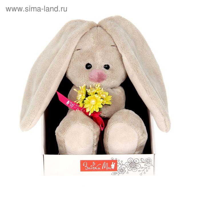 Мягкая игрушка «Зайка Ми» с жёлтым букетом