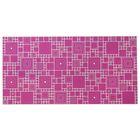 Панель ПВХ мозаика «Палитра фуксия»
