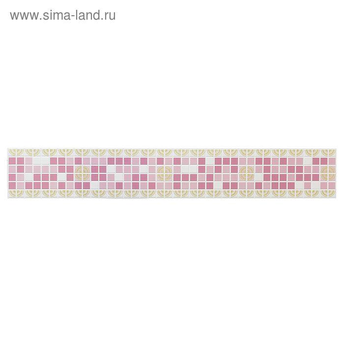 Панель ПВХ фриз «Ассорти розовое»