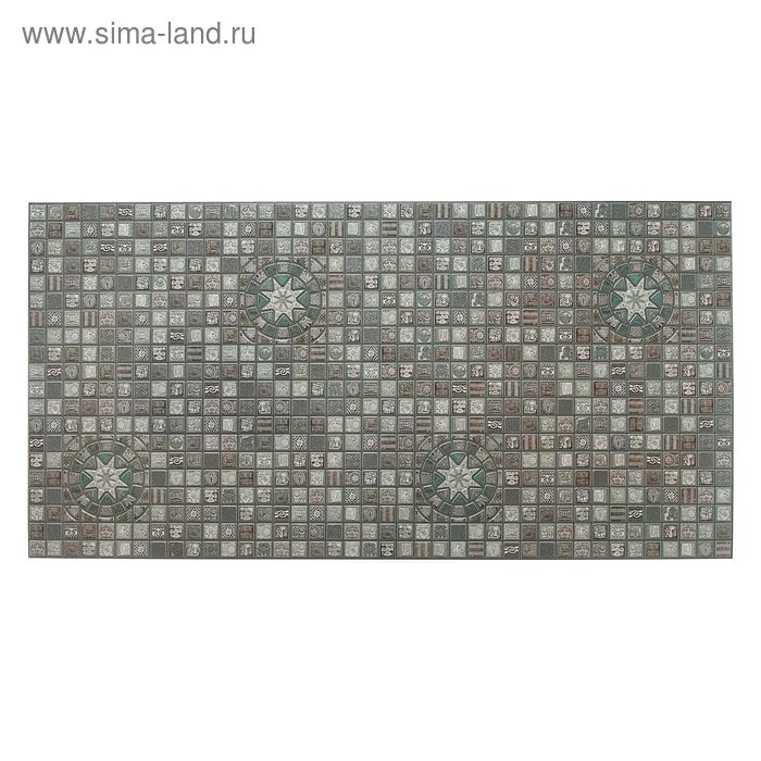 Панель ПВХ мозаика «Медальон олива»