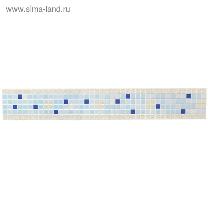 Панель ПВХ фриз «Ассорти синее»