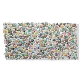 Панель ПВХ камень «Галька зелёная»