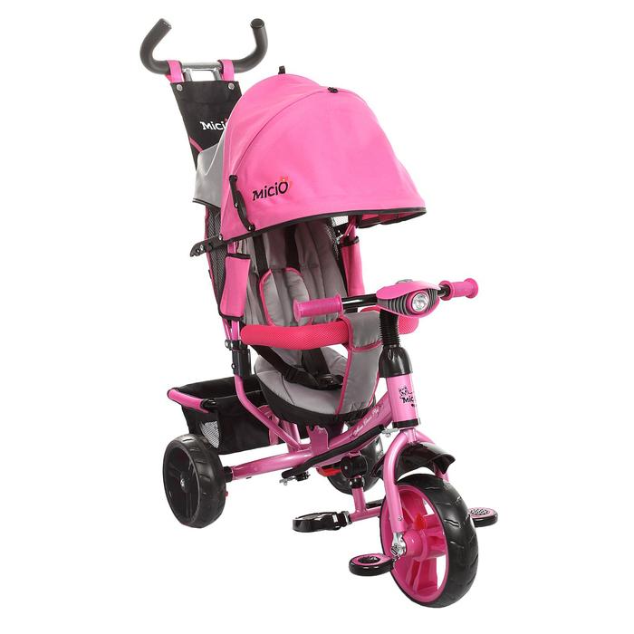 """Велосипед трёхколёсный Micio Classic Plus 2016, колёса EVA 10""""/8"""", цвет розовый"""