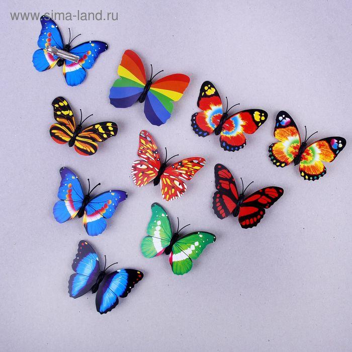 "Декор на прищепке ""Бабочки"", цвета микс"