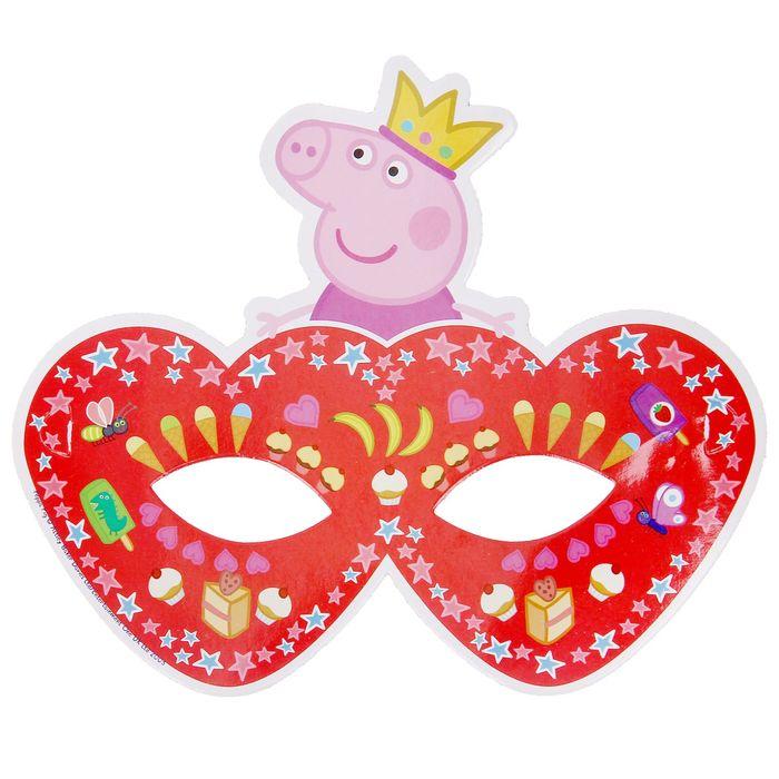 Бумажные маски «Пеппа-принцесса», набор 6 шт.