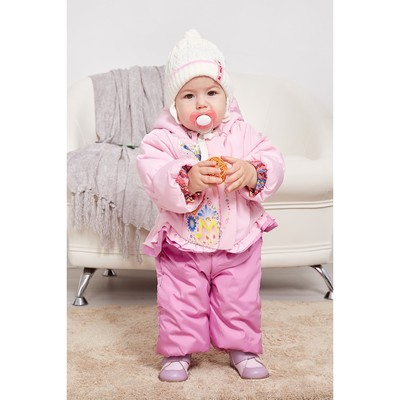 """Комплект ясельный """"Котики"""" (куртка+полукомбинезон), рост 74 см, цвет розовый 481П"""