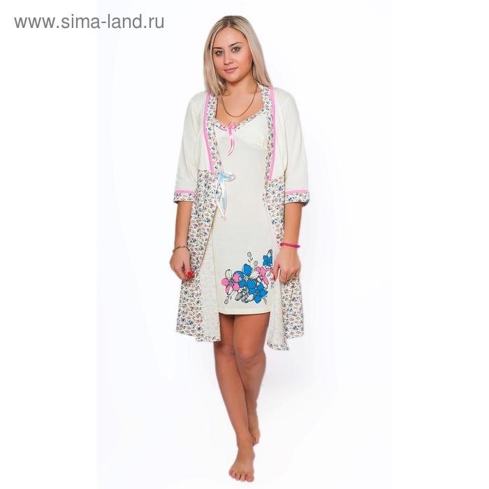 Комплект женский (халат, сорочка) ПС-9 МИКС, р-р 48