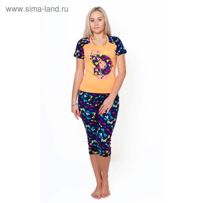 Комплект женский (футболка, бриджи) ТК-932 МИКС, р-р 52