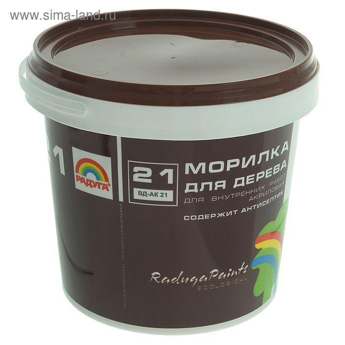 Морилка для дерева акриловая прозрачная содержит антисептик Радуга 21, 1 кг, сосна