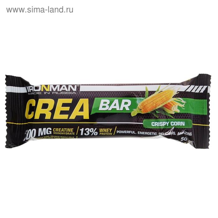 """Батончик """"Crea Bar"""" с креатином, 50 г Кукуруза/белая глазурь"""