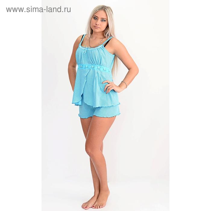 Пижама женская (топ, шорты) П-18 МИКС, р-р 50