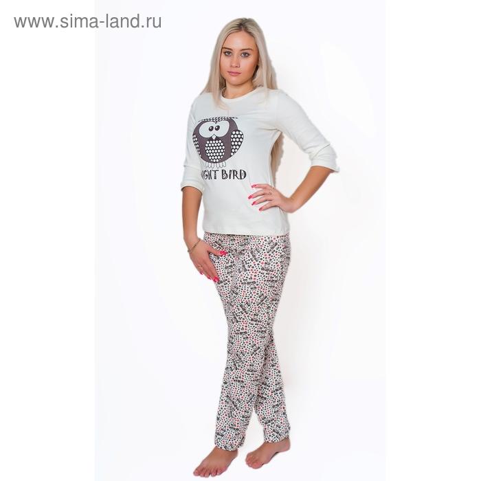 Комплект женский (фуфайка, брюки) ТК-940 МИКС, р-р 44
