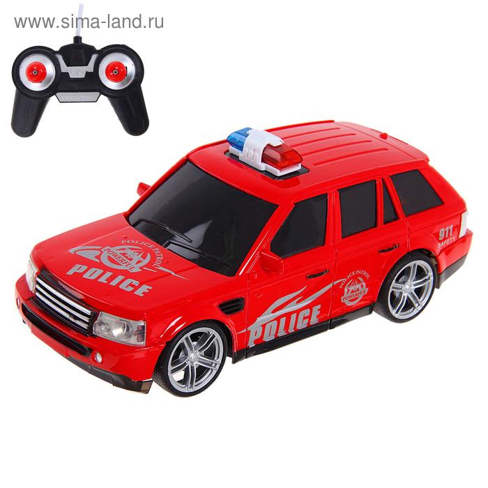 """Машина радиоуправляемая """"Дорожный патруль"""", световые эффекты, работает от батареек, МИКС"""