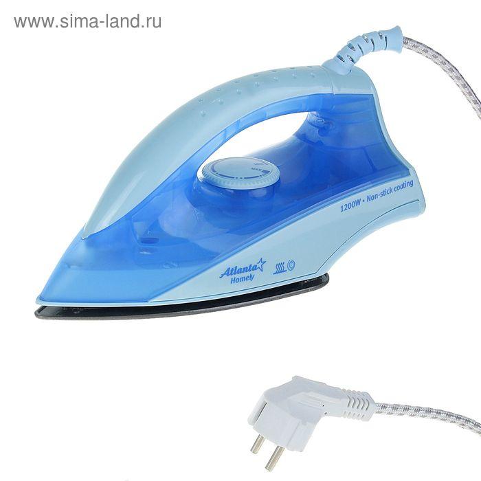 Утюг Atlanta АТН-401, 1200 Вт, 220-240 В, с тефлоновым покрытием, синий