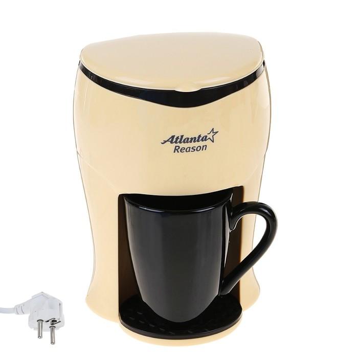 Кофеварка Atlanta ATH-530, 350 Вт, с возможностью приготовления американо, черная