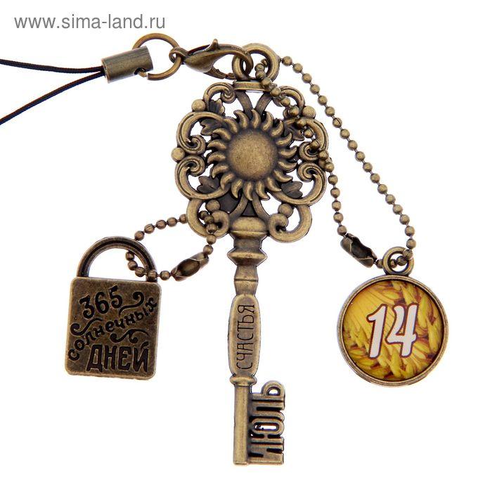 """Ключ сувенирный """"14 Июля"""", серия 365 дней"""